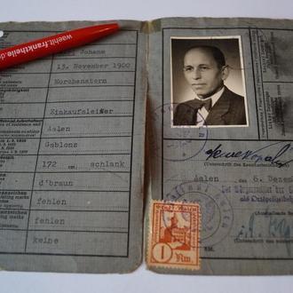 ФРГ 1946 Паспорт - Удостоверение Личности Германия 09