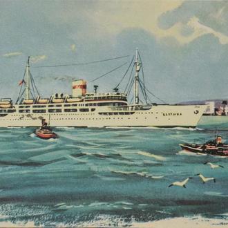 Открытка. Теплоход «Балтика». 1960-е. (24)