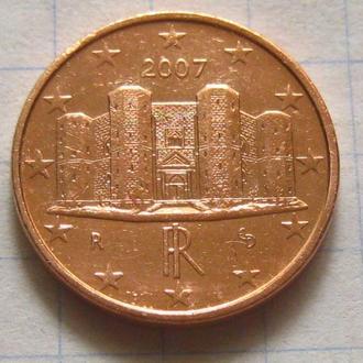 Италия_ 1 евро цент 2007 года  оригинал
