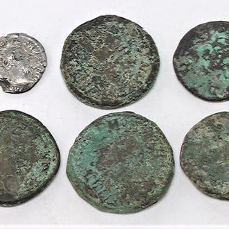 Монеты Динары Римская империя 6 шт.