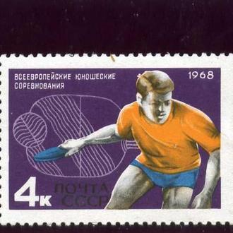 Всероссийские юношеские соревнования по настольному теннису.1968 год **.