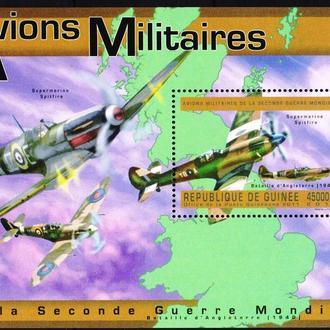 Гвинея 2011 ** Авиация Самолеты ВВС Великобритании Милитария бл MNH