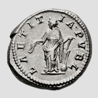 """(А)3491 - Элагобал (218—222 г.) AR Антониниан """"Веселье"""" EF"""