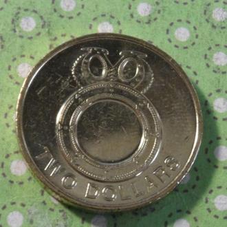 Соломоновы острова 2012 год монета 2 доллара !