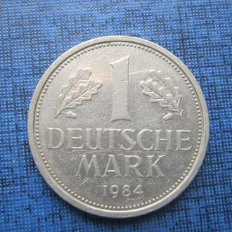 Монета 1 марка ФРГ 1984 D