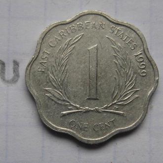 ВОСТОЧНО-КАРИБСКИЕ ГОСУДАРСТВА, 1 цент 1999 года.