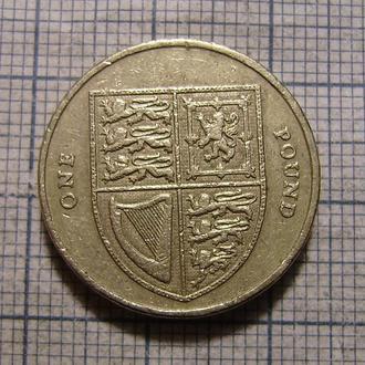 Великобритания, 1 фунт 2010 г Гербовой щит Великобритании