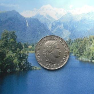 Швейцария 20 рапенов 1943 года