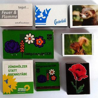 Спички, 8 штук, коллекция №3dc, Германия - Украина