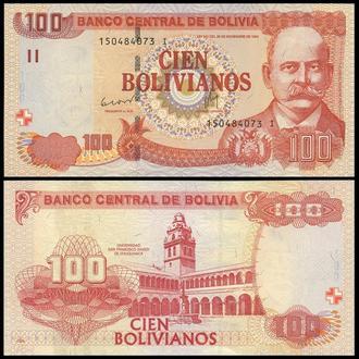 Bolivia / Боливия - 100 Bolivianos 1986 (2014)  - UNC