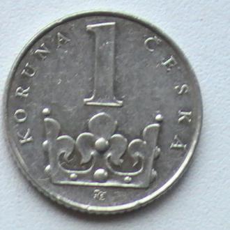 1 Крона 1993 р Чехія 1 Крона 1993 г Чехия