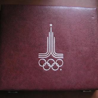 5 и 10 рублей СССР все 28 серебряных монет Олимпиада 80 в родном экспортном футляре