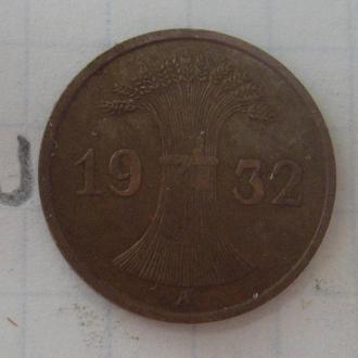 ГЕРМАНИЯ. 1 пфенниг 1932 года.