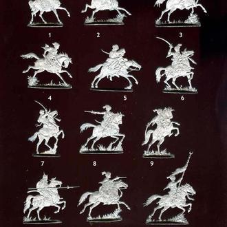 Плоские оловянные солдатики - Египетские мамелюки (Турецкая кавалерия). 17-18 век