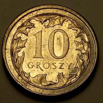 10 грош 2012 года Польша - 100% оригинал  !!! - а2