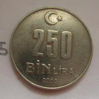 ТУРЦИЯ 250000 лир 2003 года