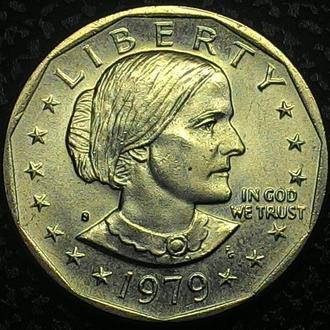 США 1 доллар 1979 год ОТЛИЧНАЯ!!!!!!!!!!!!!