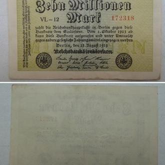 Германия 10000000 /10 миллионов марок 1923г. VL-12