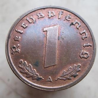 1  пфенинг 1938 г.(А)  .Третий Рейх.
