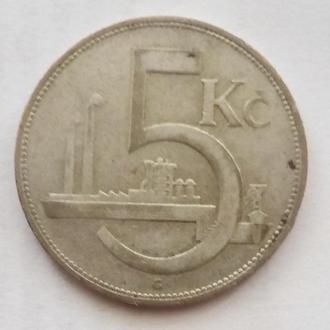 5 крон 1932 г Чехословакия  RRR ( редкая )