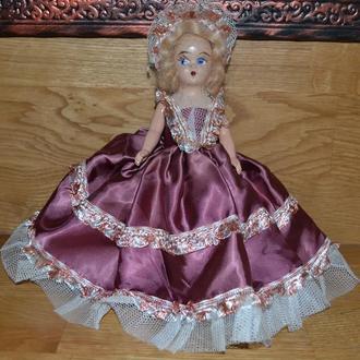 Кукла Дама в розовом, 19см, композит, 50-е, Сша