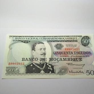 50 эскудо, 1970. Мозамбик. Пресс, UNC, c 1 грн.