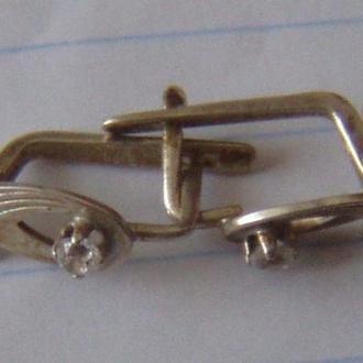 Серьги, серебро  925пр,  СССР