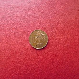 Нигерия 10 кобо 1991 Год-тип.