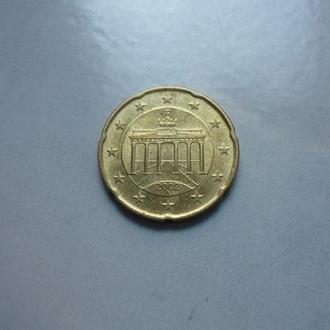 ФРГ 20 евроцентов 2002 A