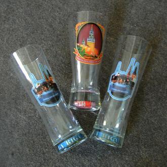 Коллекционные пивные стаканы бокалы из серии Столицы мира