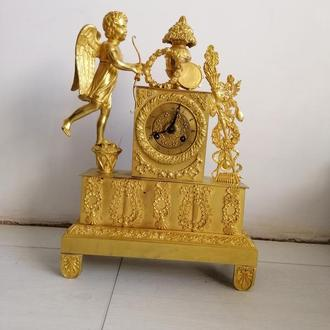 Каминные часы конец XIX века.