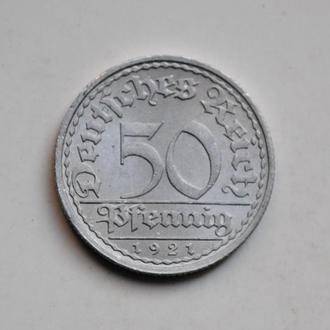 Германия 50 пфеннигов 1921 г. A, XF