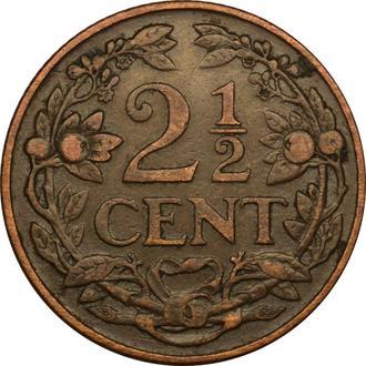 Нідерланди 2 1/2  цента  1914