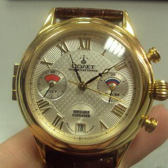 мужские часы наручные poliot international 3133.7776500 полет михаил горбачев №145