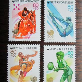 Южная Корея.1987г. Летние олимпийские игры. Полная серия. MNH
