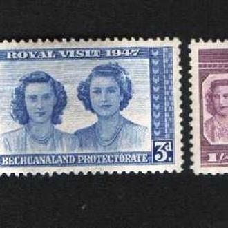 Бечуаналенд (1947) Брит. колония. Королевский визит