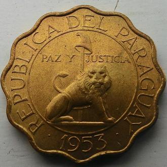 Парагвай 50 сентаво 1953 год ОТЛИЧНОЕ СОСТОЯНИЕ!!!