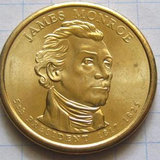 США_ 1 доллар 2008 года D  5-й президент Монро