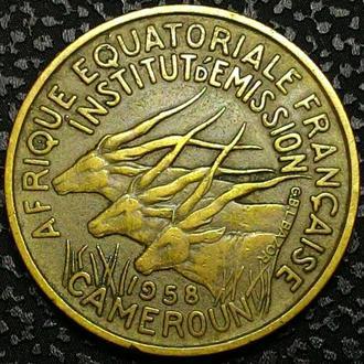 Камерун 25 франков 1958 год ОТЛИЧНЫЙ СОХРАН!