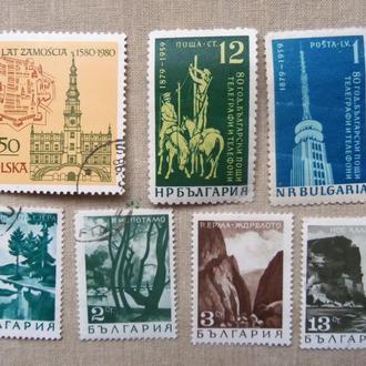 марки- с 1 гр Болгария--(А3) -  гашеные- 7 марок