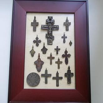 коллекция старинных нательных крестов