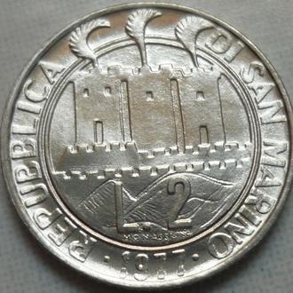 Сан-Марино 2 лиры 1977