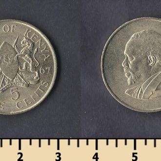 КЕНИЯ 5 ЦЕНТОВ 1967
