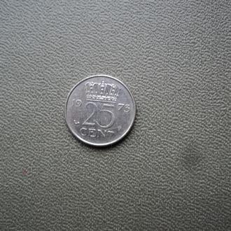 Нидерланды. 25 центов.