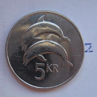 ИСЛАНДИЯ. 5 крон 2008 г. (ДЕЛЬФИНЫ).