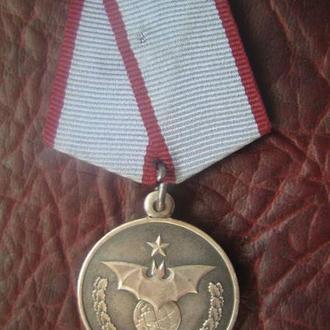 Медаль За Службу в Спец Подразделении 899 ОРСпН ВДВ с чистым документом