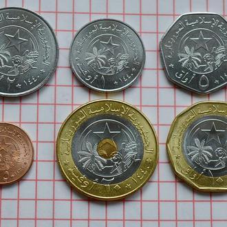 Мавритания 2017 набор монет 6 шт