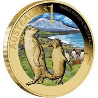АВСТРАЛИЯ. The Perth Mint. 2010. Монета Heard Island & McDonald Island 1$. Celebrate Australia.