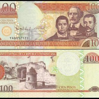 ДОМИНИКАНА 100 песо 2011г. UNC