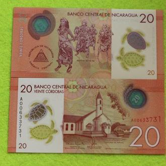Никарагуа, 20 кордоба 2014 г. UNC